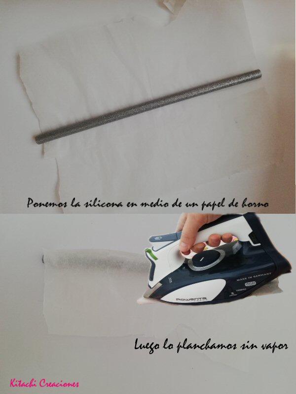 silicona en papel