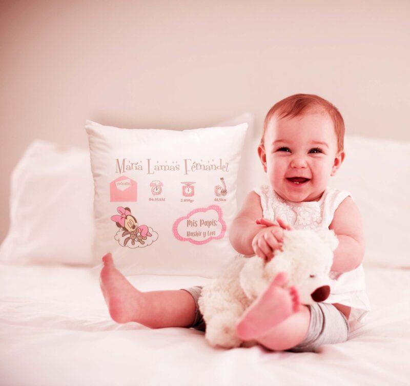 cojín personalizado bebé