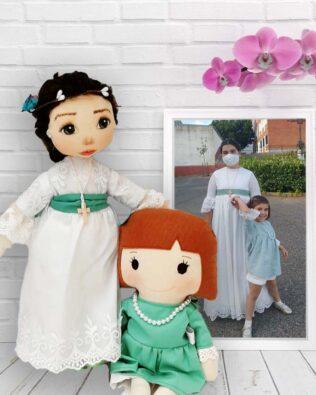 muñeca personalizada primera comunion